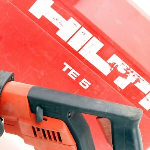 Hilti Te5 Electric Rotary Hammer Drill Corded W Case 3 Bits Cleaned Tested