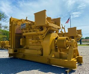 Caterpillar Engine Diesel D379ta 550hp 1200rpm Sided drive used Running 5200hour