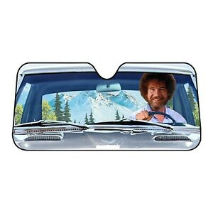 Bob Ross Car Sun Shade Funny Auto Windshield Sunshade Screen 58 X 27 1 2
