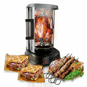 Shawarma Grill Countertop Rotating Oven Tacos Pastor Trompo Rotisserie Machine