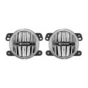Kc Hilites 4in Gravity G4 Led Light 10w Sae ece Clear Fog Pair For 07 09 Jeep Jk
