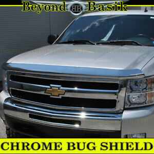 2007 2013 Chevy Silverado 1500 Chrome Bug Shield Deflector Hood Guard Protector