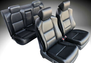 For 04 Acura Tl Seat Cover Replacements Upholstery Perforated Pu Leather Set