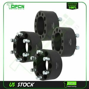4x Black Wheel Spacers 6x5 5 14x1 5 Studs 3 Thick For Chevrolet Silverado 1500