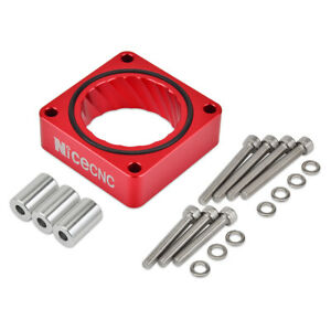 Billet Aluminum Cnc Throttle Body Spacer Red Fits For Jeep Tj Lj Yj Xj Mj Tbs01