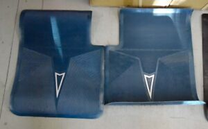 Nos Pontiac 1970 1971 1972 Blue Accesory Rear Floor Mats All Full Size 4