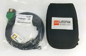 Physio Control 3 lead Ecg Cable For Lifepak 1000 Aed 11111 000016 W Soft Case