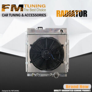 Falcon Mustang Radiator With Fan Shroud For Ford Mercury 63 65 3row Aluminum 130