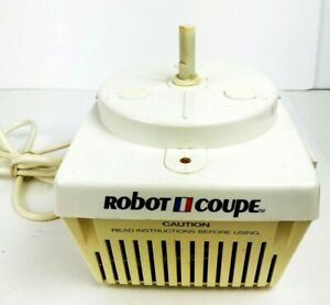 Vintage Robot Coupe Rc2000 Food Processor Base Tested Runs Great Made In France