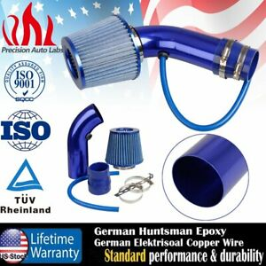 Air Intake Kit Blue Pipe 3 cold Air Intake Filter Clamp Accessories For Car