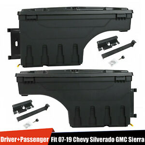 For Chevy Silverado Gmc Sierra 1500 2x Truck Bed Storage Box Toolbox Left Right