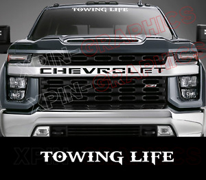 Towing Life Windshield Banner Decal Sticker Graphic Sign Tow Truck Flat Bed