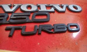 93 94 95 96 97 Volvo 850 Turbo Rear Trunk Lid Emblem Logo Badge Sign Symbol Oem
