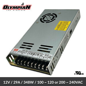 Mean Well 12v Switching Power Supply 350w 12v 29a Lrs 350 12