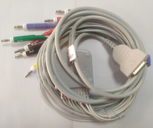 Ecg Ekg Cable For Ge Mac 500 1100 1200 One piece 10 leads Banana 4 0 Connector