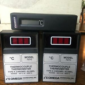 Omega Thermocouple Thermometer Type K And Digital Thermometer