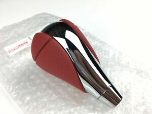 Lexus Isf Red Shift Knob Is250 Is350 Rx350 Rx450h Orange Leather And Chrome Oem