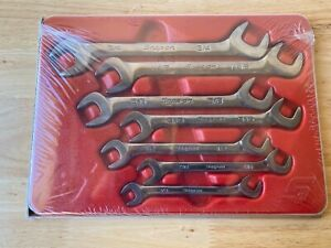 New Sealed Snap On Tools 7pc Four Way Sae Angle Head Open Wrench Set Vs807b