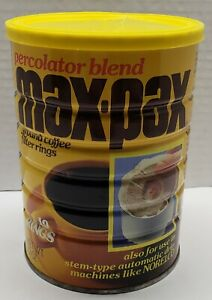 VINTAGE UNOPENED MAXWELL COFFEE HOUSE MAX - PAX COFFEE GENERAL FOODS SEALED CAN