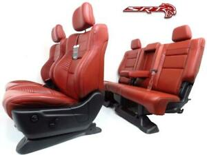 Jeep Cherokee Trackhawk Seats Red Leather Front Seat Set Powered With Rear Seat