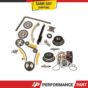 Timing Chain Kit Vct Selenoid Actuator Gear Water Pump For Gm Ecotec 2 0l 2 4l