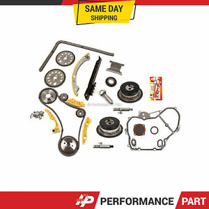 Timing Chain Kit Vct Selenoid Actuator Gear Cover Gasket For Gm Ecotec 2 0l 2 4l