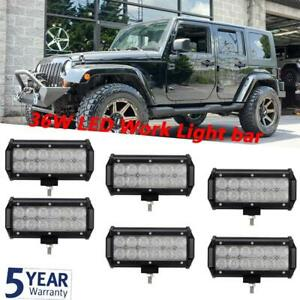 Dual Row 7 inch Led Working Driving Light Bar For Jeep Toyota Ford Chevolet Gmc