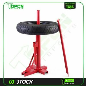 Brand New Portable Manual Hand Multi Tire Changer Mounting Tool Bead Breaker Red