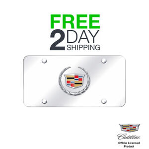 Au tomotive Gold Cadillac new Logo Chrome chrome Plate