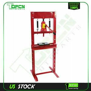 Diy Tools 12 Ton Hydraulic Shop Press Benchtop With Plates H Frame Jack Stand