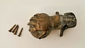 Antique Brass Metal Hand Holding Cap Weighted Flapper Cover