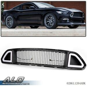 Front Hood Upper Grill Mesh Grille W Drl Led Light For 2015 2017 Ford Mustang