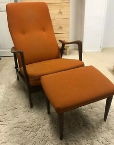 Westnofa Norway Mid Century Modern Mcm Adjustable Teak Lounge Chair Read Below