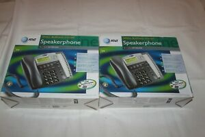 Lot Of 2 At t 945 4 line Small Business System Office Phones W ac Adapters