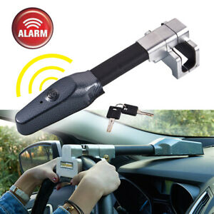 Alarm Lock For Car Auto Steering Wheel Anti Theft Safety Steel Lock Security Us