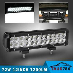 12inch 72w Combo Led Work Light Bar Spot Flood Driving Offroad Suv Utv Atv Boat