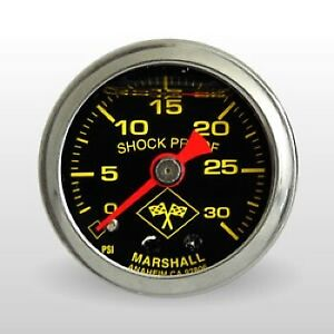 Marshall Fuel Pressure Gauge Mns00030 0 30 Psi 1 1 2 Mechanical