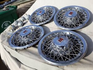 1980 1985 Oldsmobile Delta 88 15 Inch Wire Spoke Hubcaps Wheel Covers Nos