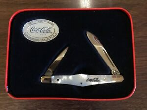 CASE XX Mother Of Pearl Coca-Cola Pearl TUXEDO POCKET KNIFE