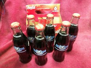Tampa Bay Lightning Stanley Cup championship Coca-Cola glass bottles, six pack