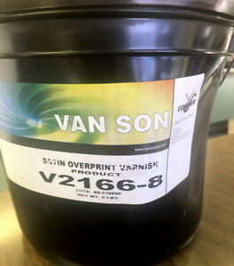 Van Son Ink Satin Overprint Varnish 8 Lb 2166 8
