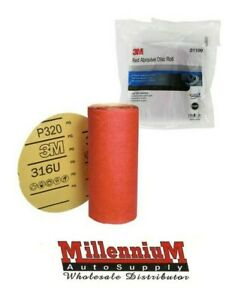 3m 1109 Stick It Adhesive Back 6 320 Grit Disc Sandpaper 100 Sheets Roll 01109