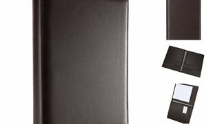 A4 Faux Leather Padfolio Ring Binder Business A4 Dark Brown 3 Ring Binders
