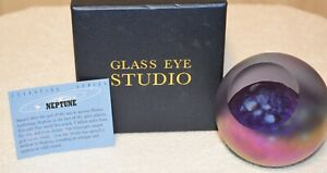 Neptune Planetary Paperweight by Glass Eye Studio Made in the USA 2223PWC 1