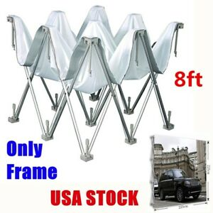 8ft Trade Show Display Tension Fabric Backdrop Stand Frame Exhibition Booth us