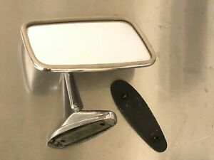 Vintage Fiat 124 Spider Side View Mirror And Gasket Parts Only 009