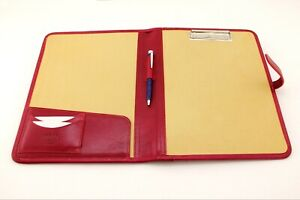 Leather Clipboard Conference Folder A4 Red Meeting Folder