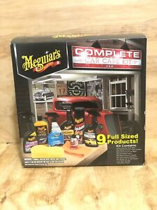 Meguiar s Complete 9 Full Size Interior And Exterior Car Care Products Gift Kit
