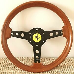 Momo Vintage Daytona 350mm Wood Steering Wheel Bmw Alpina Porsche Ferrari