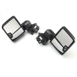 2020 2021 Silverado Camper Trailer Tow Mirrors Harnesses Black Manual Fold Oem
